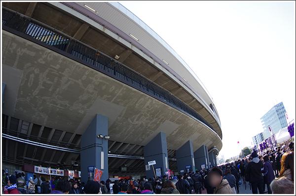 国立霞ヶ丘陸上競技場(通称国立競技場)の勇姿を撮影 Photo by PENTAX K-3