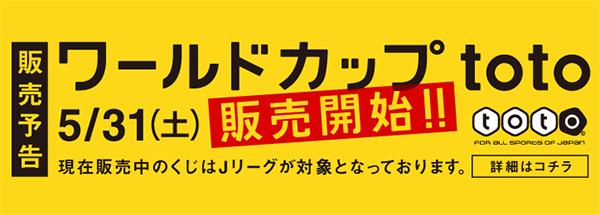 ワールドカップを対象としたスポーツ振興くじ「ワールドカップ toto」が発売だと!!