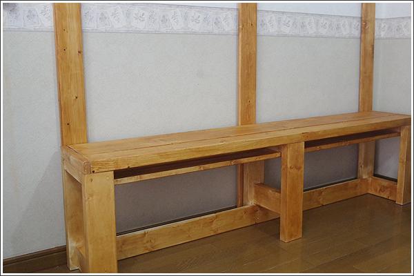 材料費2,600円ぐらいで室内ベンチを作成してみた