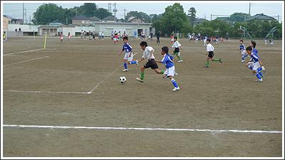 週末は子供のサッカー