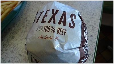 先行発売のテキサスバーガーを食べてみた