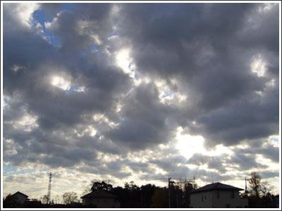 今朝の空がいい感じだった