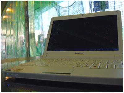 IdeaPad S10e inバッティングセンター