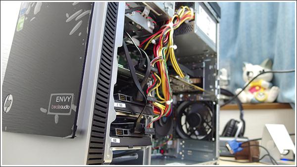HP ENVY 700-360jpのモニター機は実用重視のストレージ多め