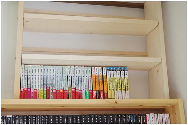 本棚屋の本棚の上に、自作の棚を作って天井ぴったりに(ただし多くの反省点あり)